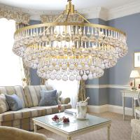Buy cheap Drop Crystal Pendant Lights Gold Chandelier For Indoor Home Living room Lighting from wholesalers