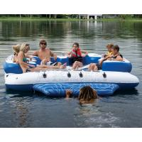 Direct supplier wholesale huge 6 person inflatable water floating island floating lounge raft