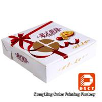Quality Environmental Square Paper Food Boxes Egg Tart Window Paper Box for sale