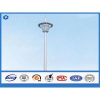 Hot Dip Galvanized Monopole cell Tower Steel Telecommunication Pole 20 - 50m Height Manufactures