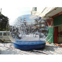 Christmas PVC Tarpaulin PVC Giant Inflatable Snow Globe Winter Wonder Snow Ball Manufactures