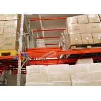 Beverage Industry Push Back Rack Orange Double Deep Pallet Racking Heavy Duty Manufactures