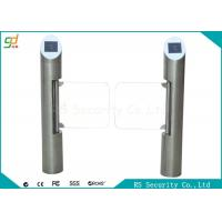 Automatic Post Supermarket Swing Barrier  IR Sensor Bevel Swiping Card Gate Manufactures