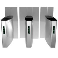 Stailess Steel Sliding Turnstile Security Systems, High Speed Gates Flap Barrier Manufactures