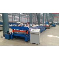 Hydraulic CNC Floor Tile / Sheet Metal Forming Equipment Cr12Mov Chains Drive Manufactures