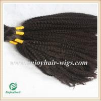 Indian 5A virgin  hair bulk ,natural color(can be dye) afro kinky curly 10''-26''length Manufactures