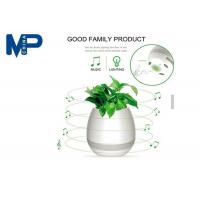 Indoor Use Mini Portable Bluetooth Speaker Led Flower Pot With Night Light Manufactures