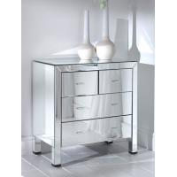 Quality Beveled Glass Mirrored Bedroom Chest Furniture W40 * D34 * H102cm Size for sale