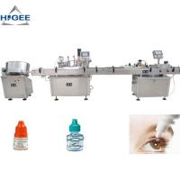 High Accuracy Bottle Filling Capping And Labeling Machine For Eye Drop Manufactures