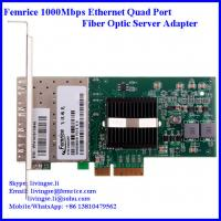 Buy cheap 1Gbps 4 ports Ethernet PCI Express 4 fiber optical Server network adapter, SFP from wholesalers