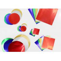 Gummed Colored Paper Circles Gloss Finish Combined With Squares And Circles Manufactures