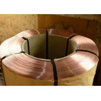 Bronze coated Tyre Bead Wire , 0.78  - 2.00mm Spring Steel Wire for Air duct Manufactures
