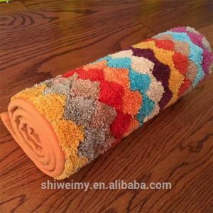 China Hot sales colorful stripe microfiber doormat, Kitchen mat, bath mat on sale
