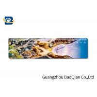 Cute / Fancy Printing 3D Lenticular Ruler , Plastic Flexible Ruler Customized Shape Manufactures