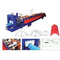 Aluminum Ridge Cap Roll Forming Machine , Glazed Tile Roll Forming Machine  Manufactures