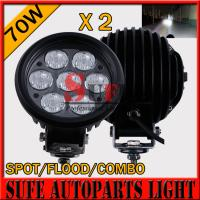 6'' 70w LED Driving Light 10-30v Offroad Light 4x4 tractor Driving Light For SUV ATV Light Manufactures