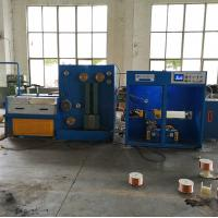 17 DWT Copper Wire Drawing Machine With Annealer And Double Spoolers , Customized Machine Manufactures