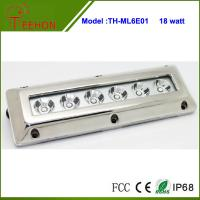 18W in optional emittor color,Stainless Steel Underwater Boat Rectangular Marine LED light Manufactures