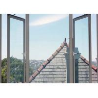 AS2047 Double Swing Aluminium Awning Windows Winder Tempered Glass For Villa Manufactures
