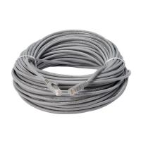 100FT LSZH Gray PVC UTP Cat5e Lan Cable Patch Cord RJ45 Crystal Head Computer Wire Manufactures