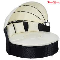 Round / Curved Outdoor Sofa , Comfortable Contemporary Outdoor Furniture Lounge Sofa