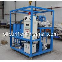 China Frame Hook Type Vacuum Transformer Oil Degassing Dehydration Plant, Insulation Oil Cleaning Unit on sale
