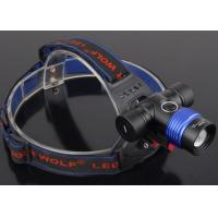 China Aluminum Rechargeable LED Headlight , 5 Modes Adjustable Bike High Power Headlamp on sale