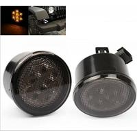 Yellow Front Jeep Wrangler Turn Signal Lens , Smoke Len Jeep Wrangler Tail Lights Manufactures