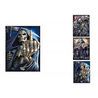 3 Images Scary Skull Heads 3D Lenticular Flip 30x40cm For Home Decoration Manufactures