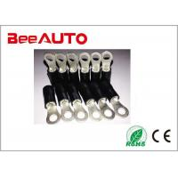 Nylon Covered  Insulated Ring Terminals Spade Solderless Black RV Series Fireproof Manufactures