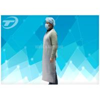 HDPE Disposable Plastic Aprons White Color 80 X 140 Cm , Plastic Coated Aprons Manufactures