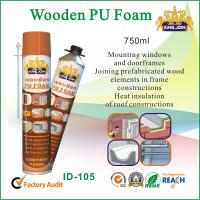 750ml Expanding Spray Foam Insulation / PU Waterproof Foam Sealant For Mounting Manufactures