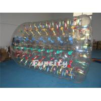 Transparent Inflatable Water Roller , Colorful String Inflatable Aqua Rolling Ball Manufactures