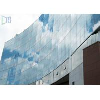Quality Commercial Outdoor Flexible Aluminium Curtain Wall 2.5 - 5.0mm Thickness for sale