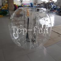 No Toxicity large inflatable belly bumper ball , Blue Inflatable Toy bubble bumper balls for kids Manufactures