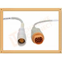 Male IBP Converter Pressure Transducer Cable  10 Pin Siemens Draeger Manufactures