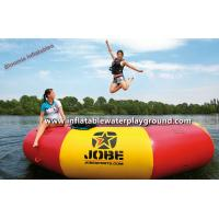 Floatable Inflatable Water Trampoline Games , Durable Inflatable Water Jumping Bed Manufactures