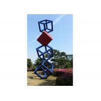 Cube Garden Large Stainless Steel Sculpture Outdoor Metal Art Sculpture Manufactures