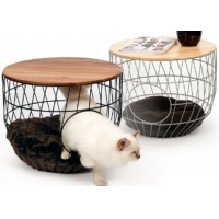 Metal Basket Coffee Table With Pet Cave Manufactures