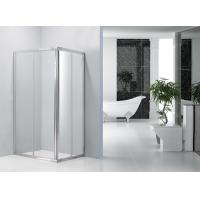 Sliding Bathroom Shower Enclosures 0.082 Volume With Bright Aluminum Frame Manufactures
