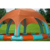 Customized PVC Tarpaulin Inflatable Family Pool For Kids With Tent Manufactures