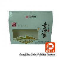 Eco Food Packaging Fold Paper Box Hot Foil Stamping With Open Window Manufactures