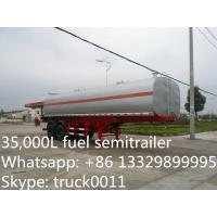 hot sale 35000 litres 2 axles fuel tank trailer, best quality chemical tank trailer for sale, Manufactures