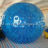 Blue 1mm PVC Inflatable Rolling Body Zorbing Ball For Adults And Kids Manufactures