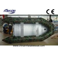 Aluminum Floor Camouflage Inflatable Boat , Six Person Advanced Inflatable Kayak Manufactures