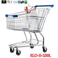 Portable Metal Rolling Grocery Supermarket Shopping Trolley Carts Zinc Plated Manufactures