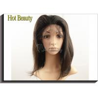 Natural Brown Remy Human Hair Glueless Full Lace Wigs No Shedding Manufactures