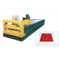 Steel Galvanized Roof Roll Forming Machine For Making 0.3 - 0.8mm Thickness Tile Manufactures