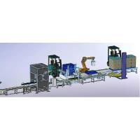 Quality PLC Control Robotic Palletizing System Loader For Beverage Industry for sale
