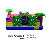 Durable PVC Tarpaulin Inflatable Fun City Happy Zoo Paradise Inflatable Bouncy House Manufactures